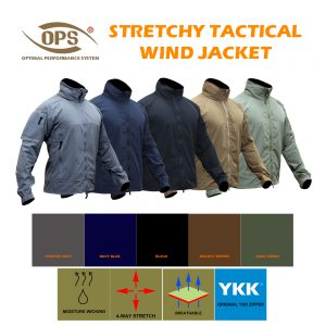 STRETCHY TACTICAL WIND JACKET
